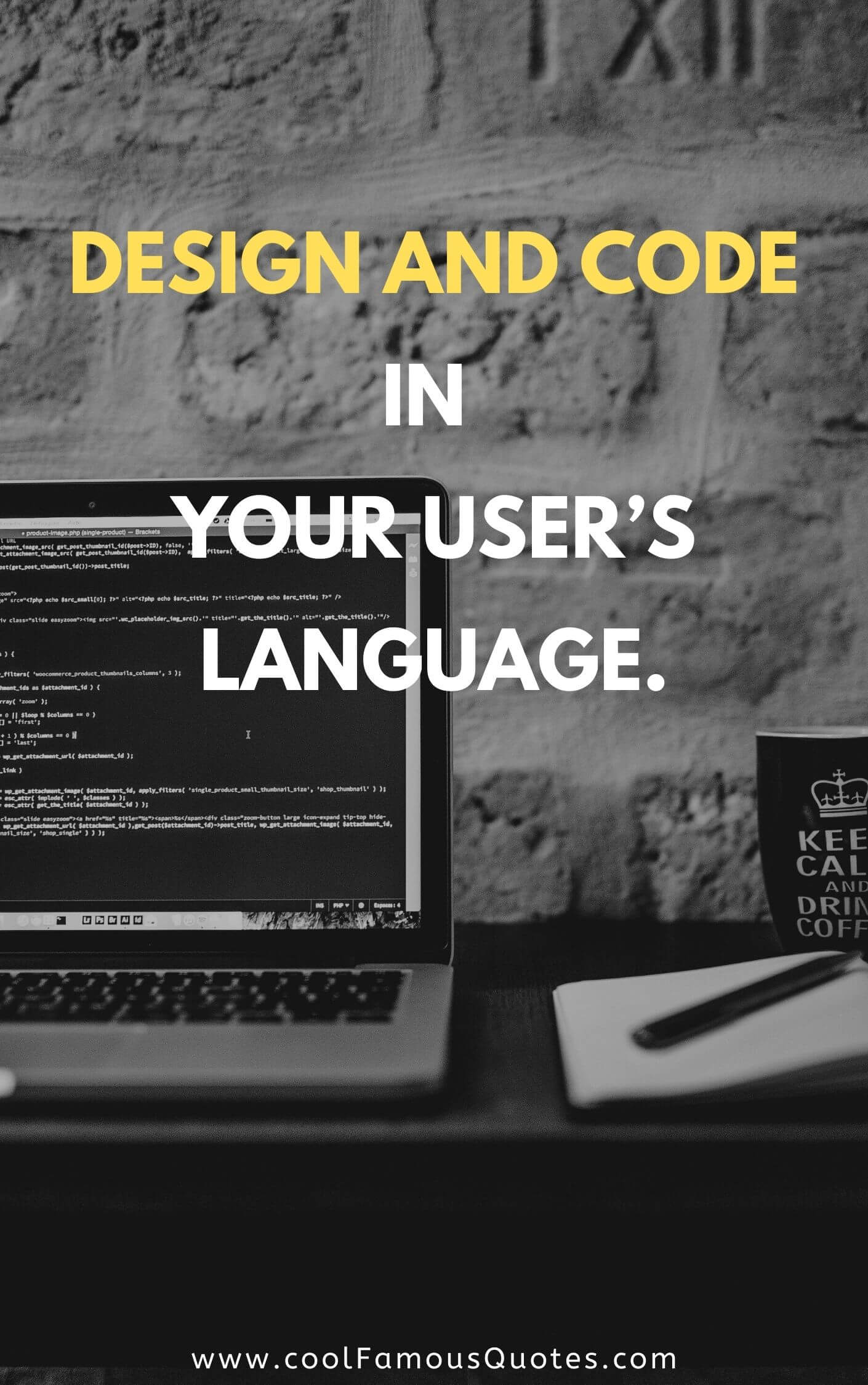 Design and code in your user's language