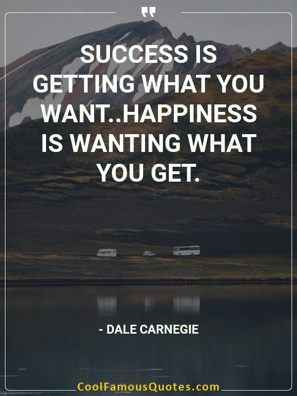 inspirational quotes - Image for quote : Success is getting what you want..Happiness is wanting what you get.